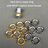Декоративная гайка-кольцо (м-10) (некрашеное) (Chrome) (Gold) (Black)  (кольцо плоское гладкое)