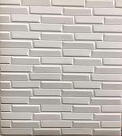 3д панель стеновая 5 шт. декоративная Под плитку (самоклеющиеся 3d панели для стен) текстурная 700x770x8 мм, фото 1