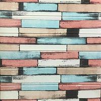 3Д панель стінова 10 шт. декоративна Прованс ПВХ (самоклеючі 3d панелі цегла для стін) під цеглу 700*700*5 мм
