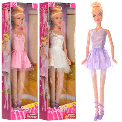 Кукла DEFA 8252  балерина, 29см, 3 цвета, в кор-ке, 9-32-4,5см
