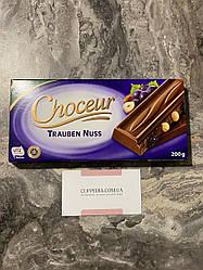 Молочный шоколад Choceur Trauben Nuss с цельным фундуком и изюмом 200 грм