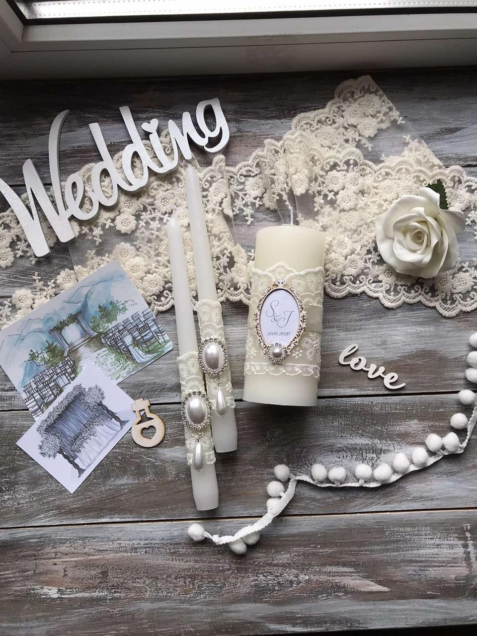 Весільні свічки ручної работи