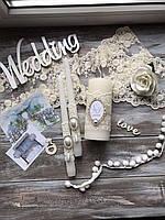 Весільні свічки ручної работи, фото 1
