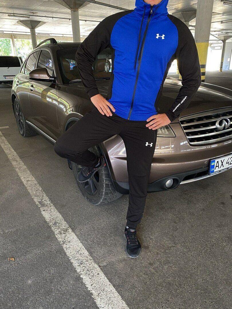 Мужской спортивный костюм Under Armour черно синий
