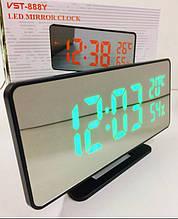 Настільні годинники від мережі+батарейка VST-888Y/7006 (60 шт/ящ)