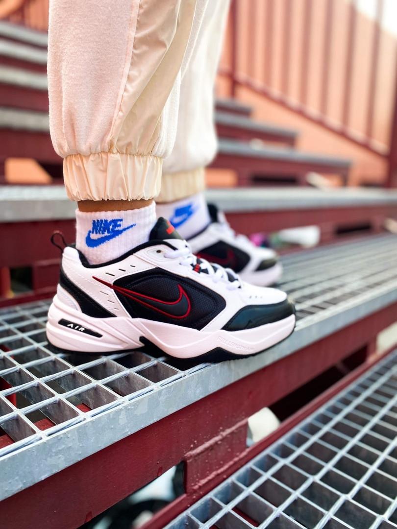 Мужские кроссовки в стиле Nike Air Monarch (black/white), Найк Аир Монарх (Реплика ААА)