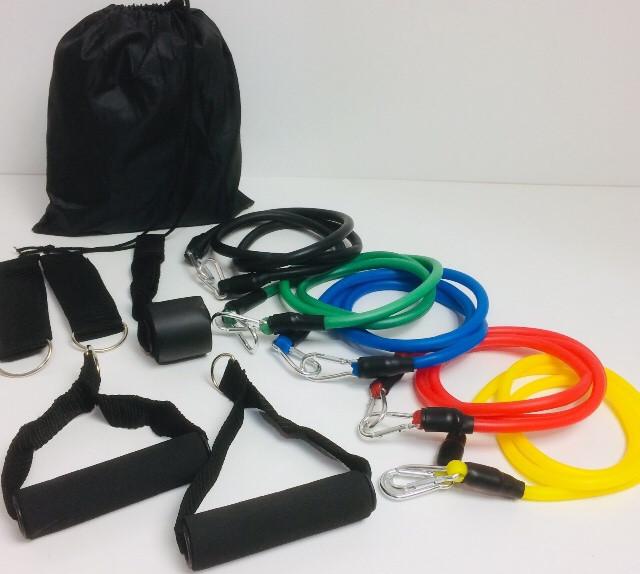 Набор трубчатых Эспандеров для фитнеса U-Powex  5штук в мешочке (50 шт/ящ)