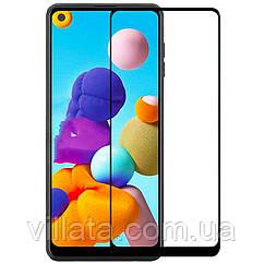 Privacy 5D (full glue) защитное стекло  для Samsung Galaxy A21s