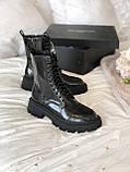 Жіночі шкіряні черевики Balenciaga (Баленсіага), фото 2