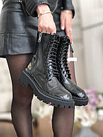 Женские кожаные ботинки Balenciaga (Баленсиага), фото 1