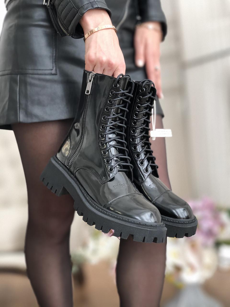 Женские кожаные ботинки Balenciaga (Баленсиага)