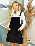 Черный вельветовый сарафан 44-0221, фото 2