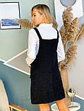 Черный вельветовый сарафан 44-0221, фото 4