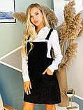 Черный вельветовый сарафан 44-0221, фото 3