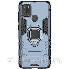 Противоударный чехол с магнитом под держатель в машину  Transformer Ring for Magnet для Samsung Galaxy A21s