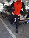 Чоловіча куртка вітровка + спортивний костюм Under Armour чорний, червоний, фото 2