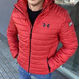 Чоловіча куртка вітровка + спортивний костюм Under Armour чорний, червоний, фото 4