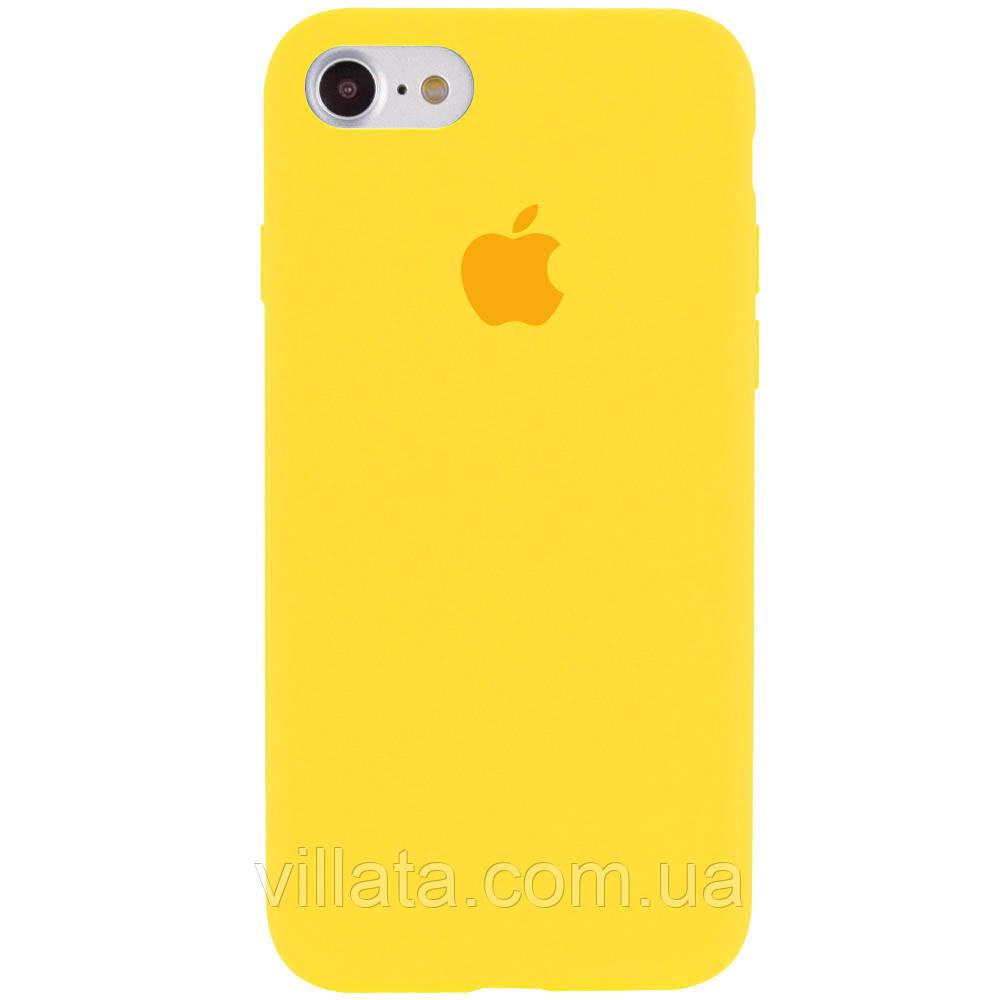 """Чохол Silicone Case Full Protective (AA) для Apple iPhone 6/6s (4.7"""") Жовтий / Canary Yellow"""