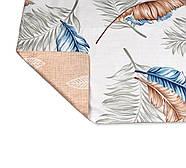 """Євро комплект (Бязь) постільної білизни """"Королева Ночі""""   Постільна білизна від виробника   Пір'я і листя, фото 4"""