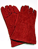 Краги сварочные спилковые красные с подкладкой.