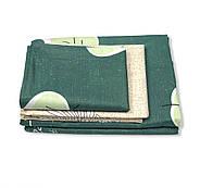 """Евро комплект (Бязь) постельного белья """"Королева Ночи""""   Постельное белье от производителя   Листья на зеленом, фото 2"""