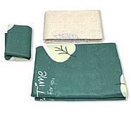 """Евро комплект (Бязь) постельного белья """"Королева Ночи""""   Постельное белье от производителя   Листья на зеленом, фото 3"""