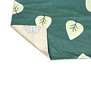 """Евро комплект (Бязь) постельного белья """"Королева Ночи""""   Постельное белье от производителя   Листья на зеленом, фото 4"""