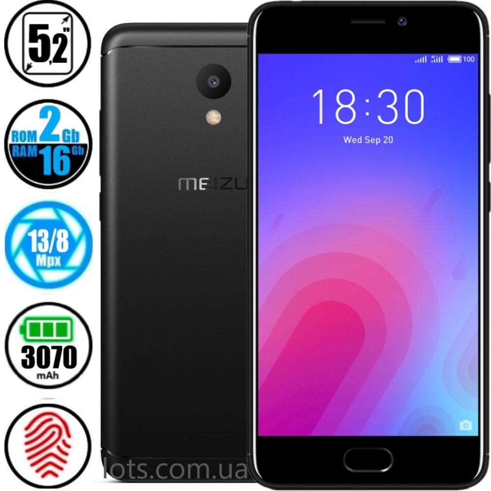 Смартфон Meizu M6 (2/16GB) Black + Подарок Защитное Стекло
