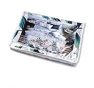 """Сімейний комплект (Бязь) постільної білизни """"Королева Ночі""""   Постільна білизна від виробника   Листя, фото 5"""