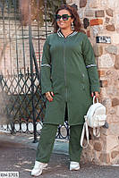 Женский спортивный костюм кардиган с брюками батал, размеры 50-52, 54-56, 58-60