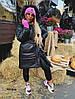 Стильная женская куртка с поясом  053 Дор, фото 3
