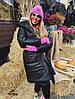 Стильная женская куртка с поясом  053 Дор, фото 4