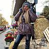 Модная женская куртка осень-зима 054 Дор, фото 6