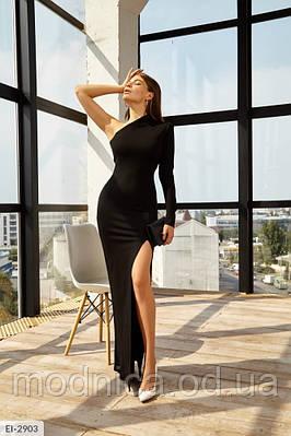 Ефектне асиметричне довге плаття без одного рукава, розміри XS, S, M, L,