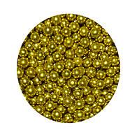 """Посыпка """"Золотые шарики 5 мм."""", 50 гр."""