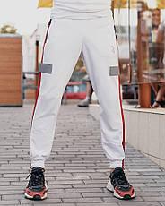 Cпортивные штаны Пушка Огонь Wline белые, фото 2