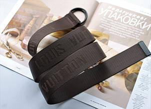 Тренд сезона тканевый ремень Louis Vuitton Brown, фото 2