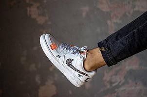 """Nike Air Force """"Just Do It"""" Белый с вставками, фото 2"""