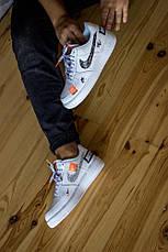 """Nike Air Force """"Just Do It"""" Белый с вставками, фото 3"""