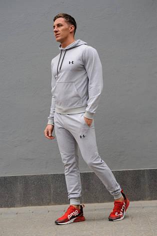 Cерый мужской спортивный костюм Under Armour (Андер Армор), весна-осень (реплика), фото 2