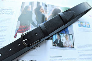 Детский кожаный ремень в школу черный, фото 2
