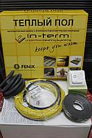 8 m2 Теплый пол с подогревом In-Therm 1300W тонкий двухжильный греющий кабель 64м, фото 1