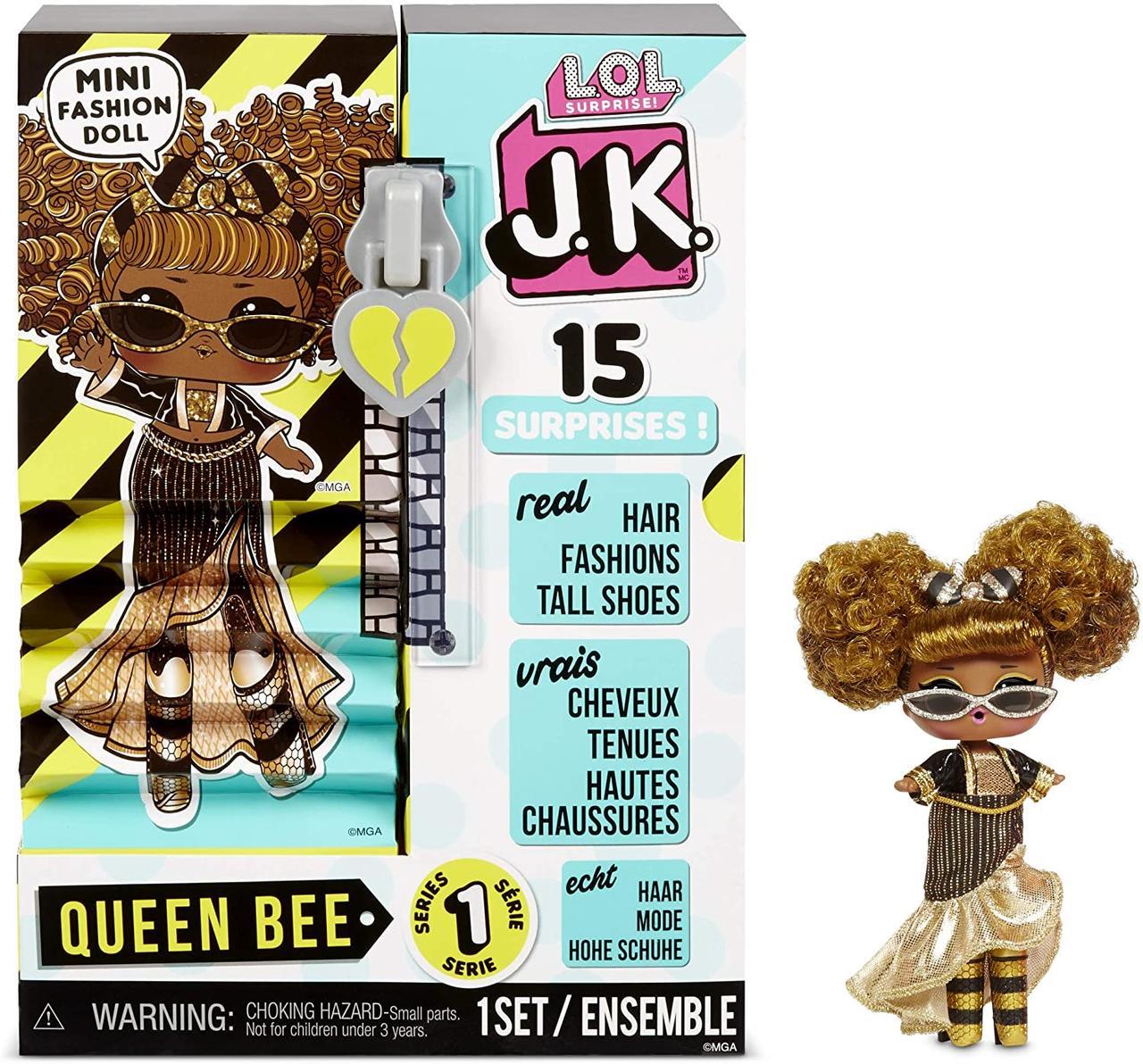 L. O. L. Surprise! JK .Queen Bee Королева Бджілка Модна міні лялечка з 15 сюрпризами