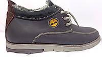 Кожанные зимние ботинки Тимберленд