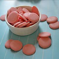 Глазурь кондитерская розовая МИР (чипсы) 250 гр.