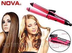 Плойка-выпрямитель для волос 2 в 1 Nova NHC 2009, фото 2