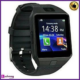 Розумні Смарт годинник (Smart Watch) DZ09 Black