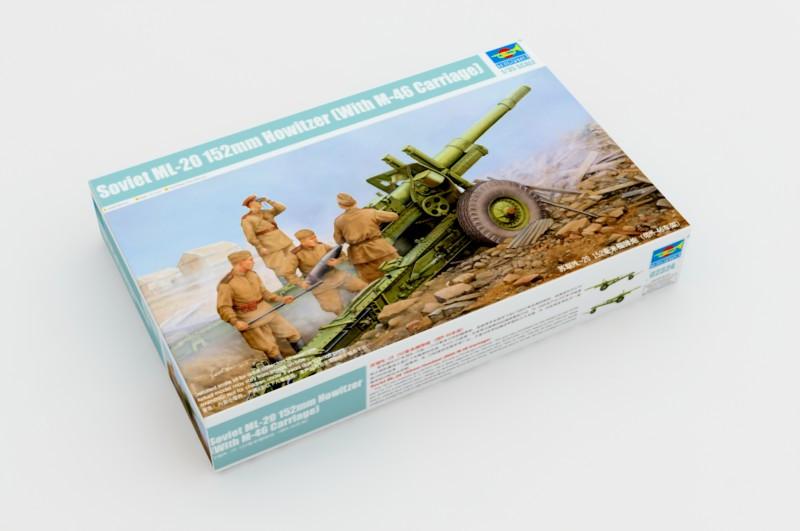Советская 152 мм гаубица МЛ-20 (M-46 Carriage). Сборная модель в масштабе 1/35. TRUMPETER 02324