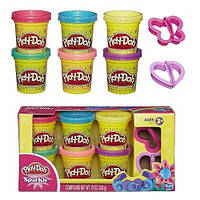 Пластилин Play-Doh (Плей до) Набор пластилина из 6 баночек Блестящая коллекция Hasbro (Хасбро)