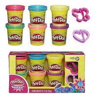 Пластилін Play-Doh (до Плей) Набір пластиліну з 6 баночок Блискуча колекція Hasbro (Хасбро), фото 1